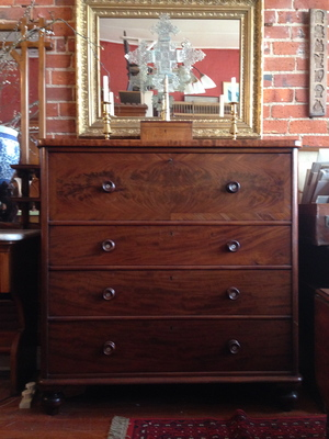 08 MAHOGANY CHEST OF DRAWERS SOLD