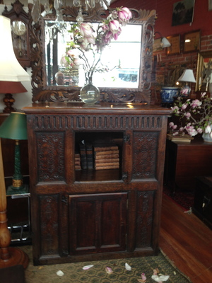 11 OAK CUPBOARD $2200