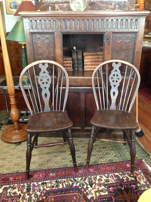 12 WINDSOR CHAIRS SOLD