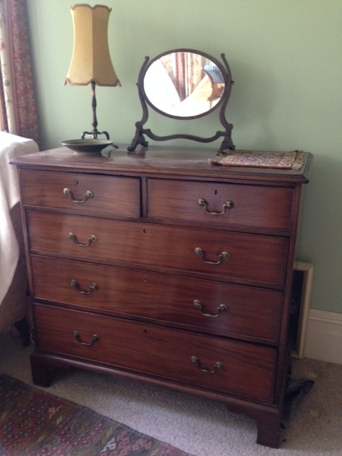76 MAHOGANY BRACKET FOOT CHEST $1850