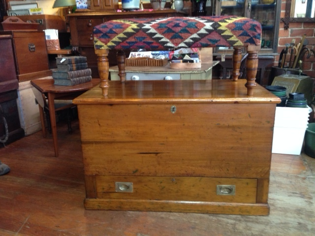 83 COLONIAL MULE CHEST $850