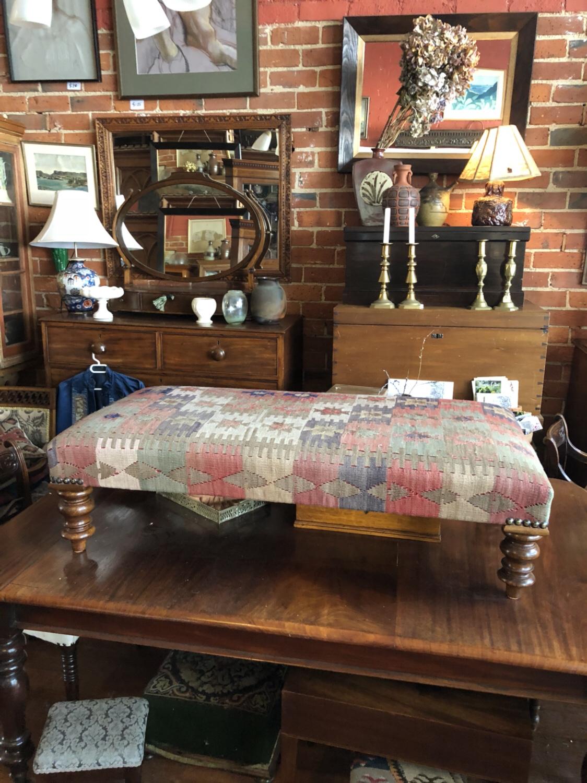 85 Turned leg ottoman $950.00