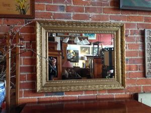 07 GILT FRAMED MIRROR SOLD