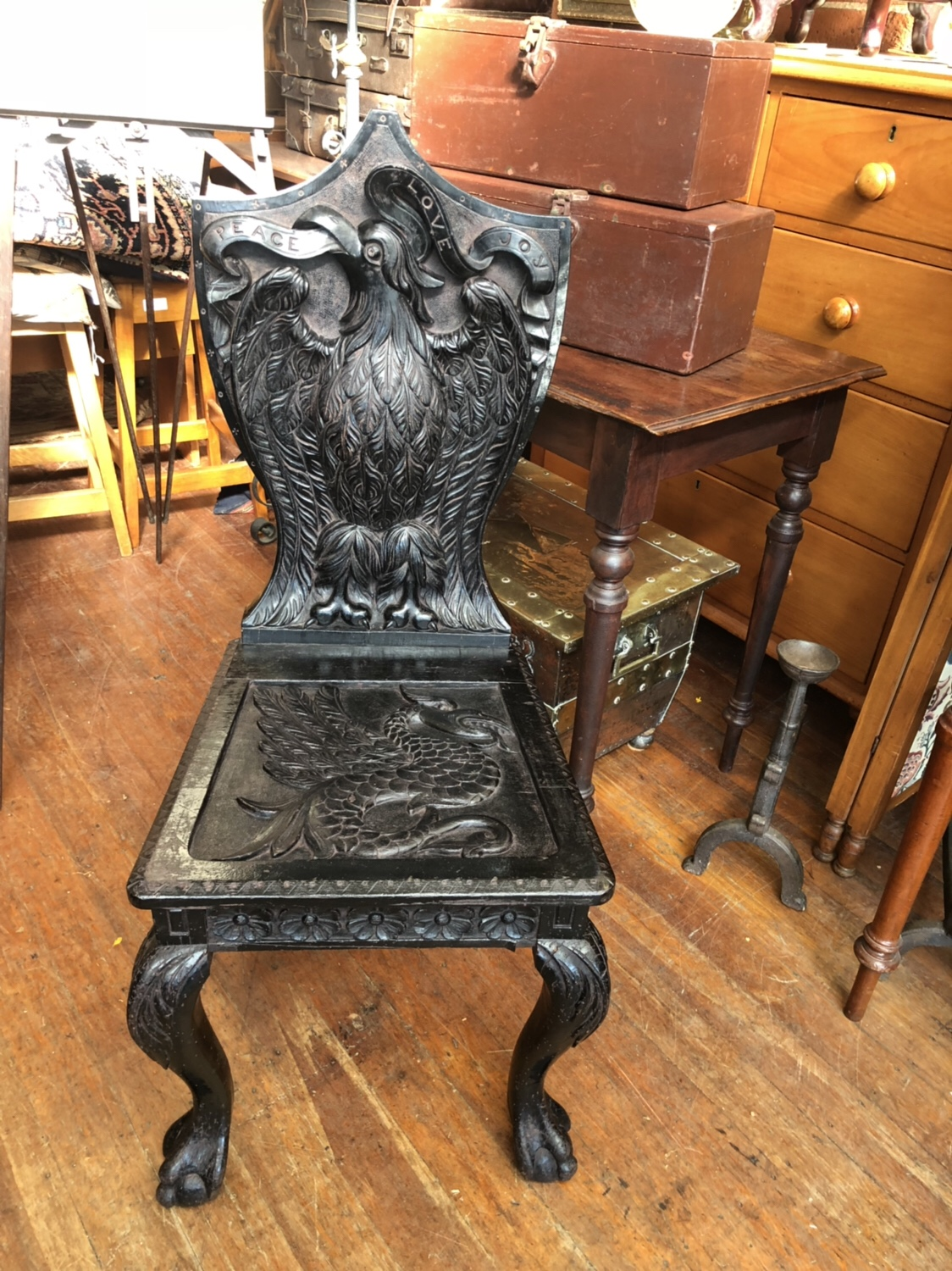 115. Carved Chair