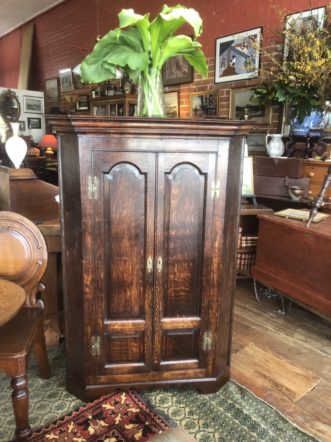 117. Oak Corner Cupboard