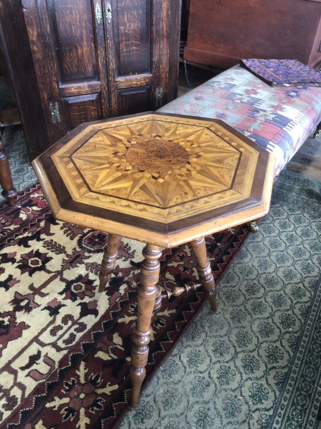 120. Colonial Inlaid Table
