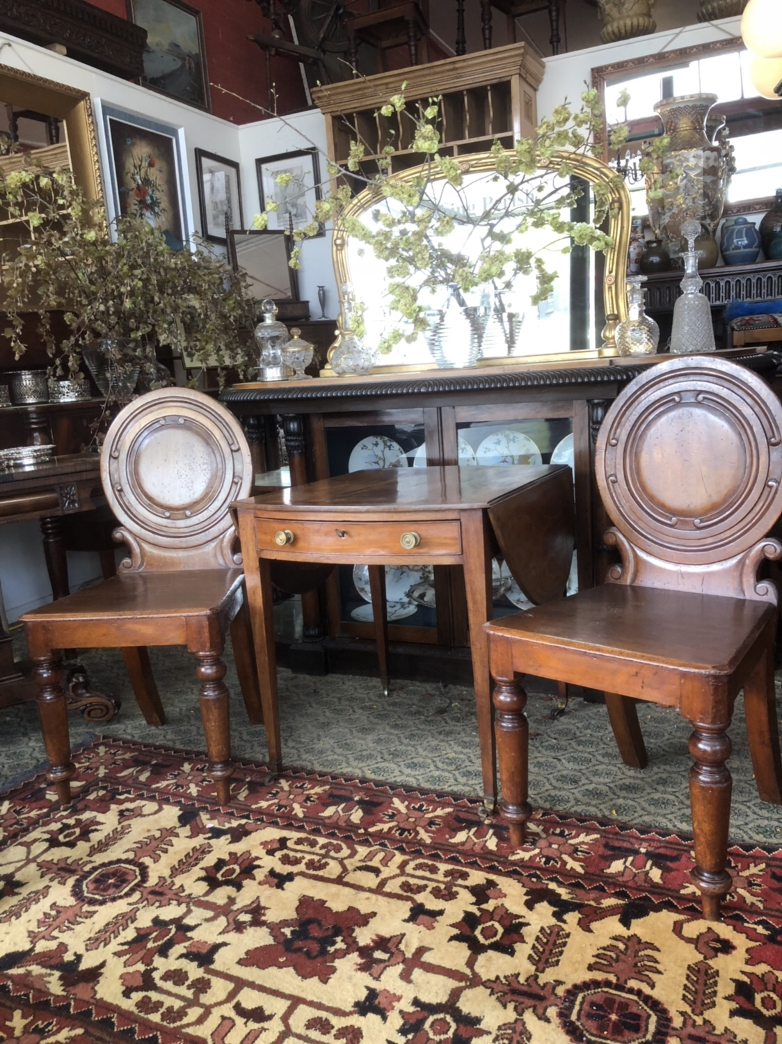 118. A Pair of Cedar Chairs
