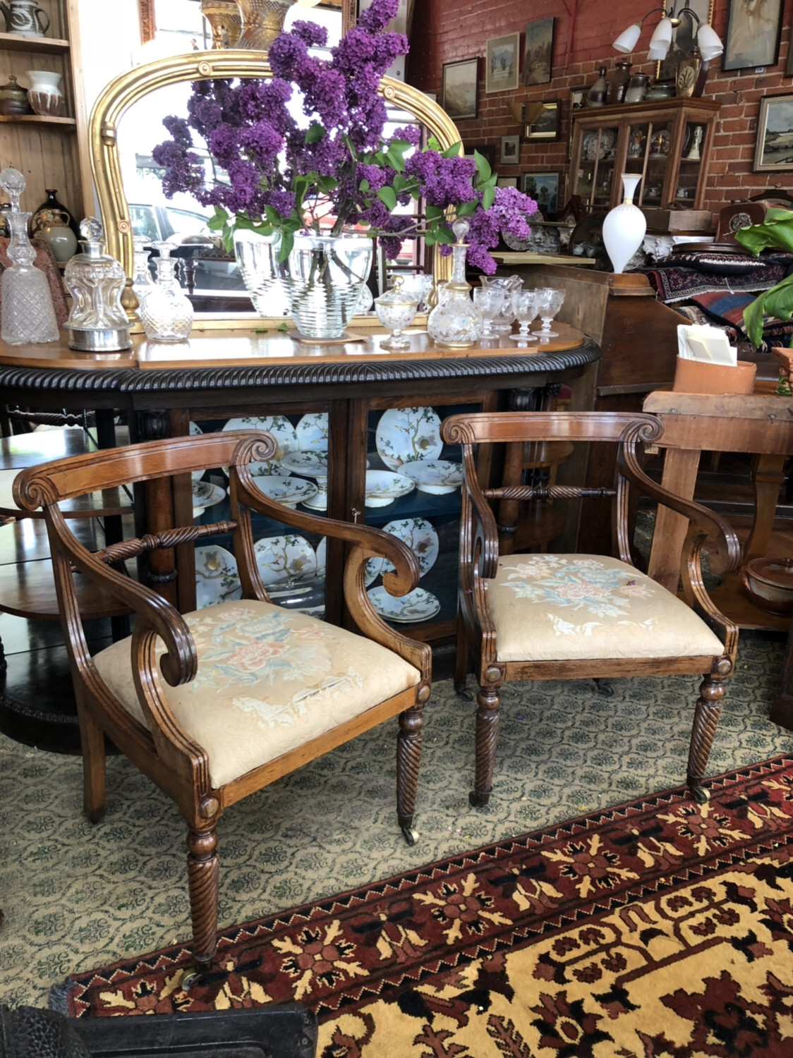 114. Pair of Regency Chairs