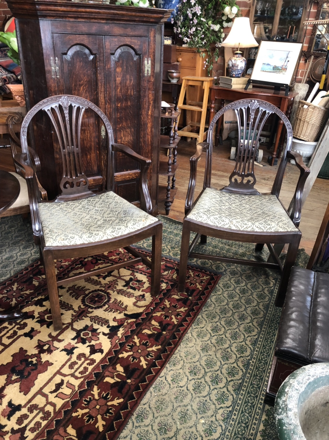 121. Pair of Carver Chairs