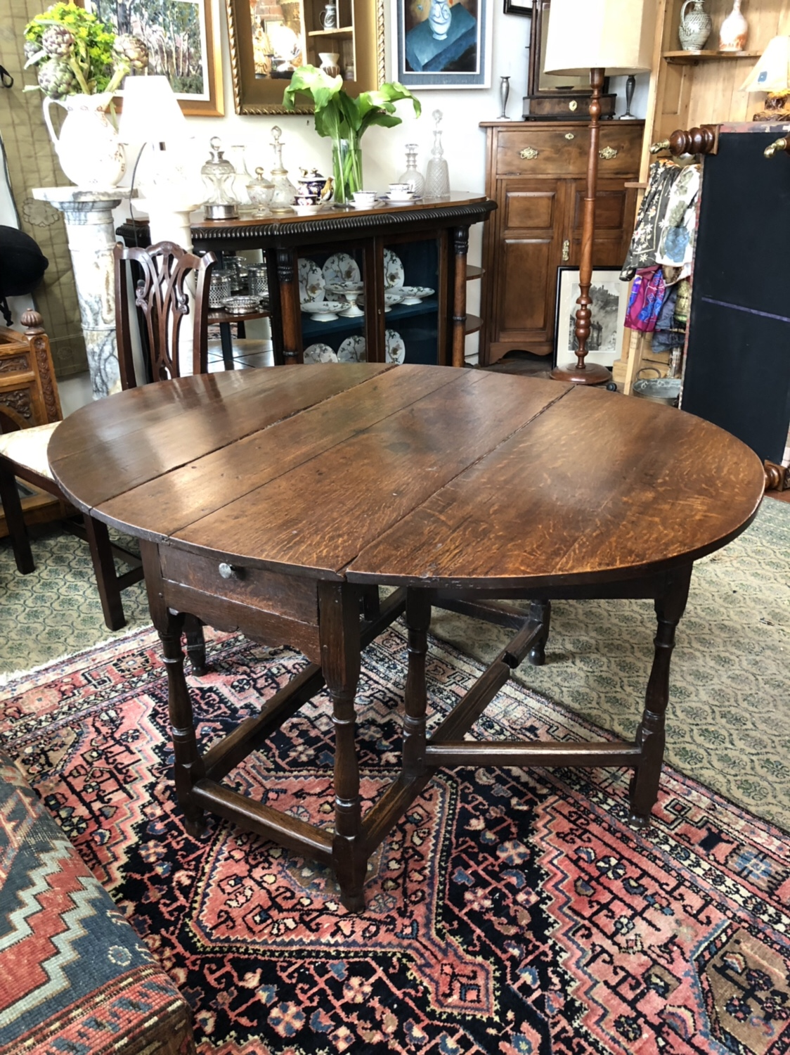 122. Oak Gate Leg Table