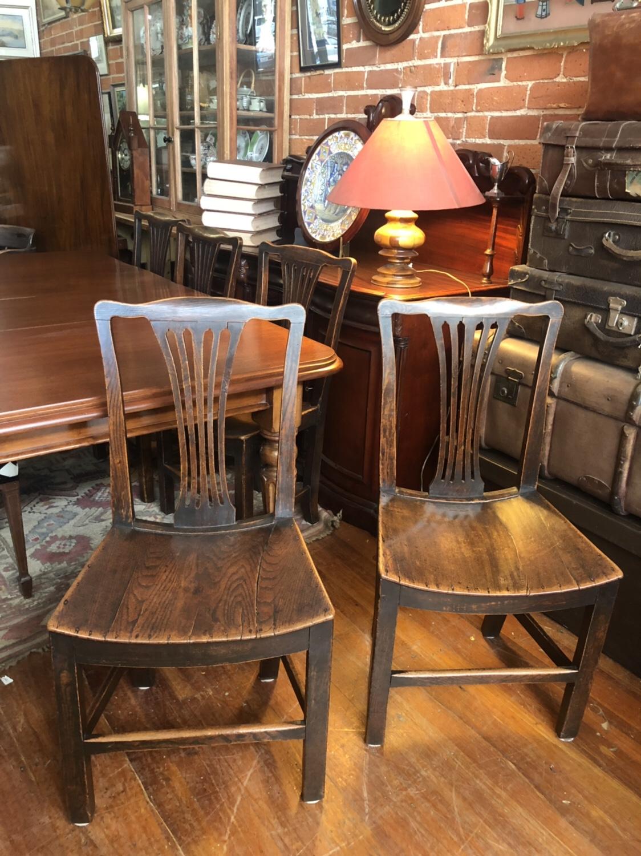 126. Six Dinning Chairs.