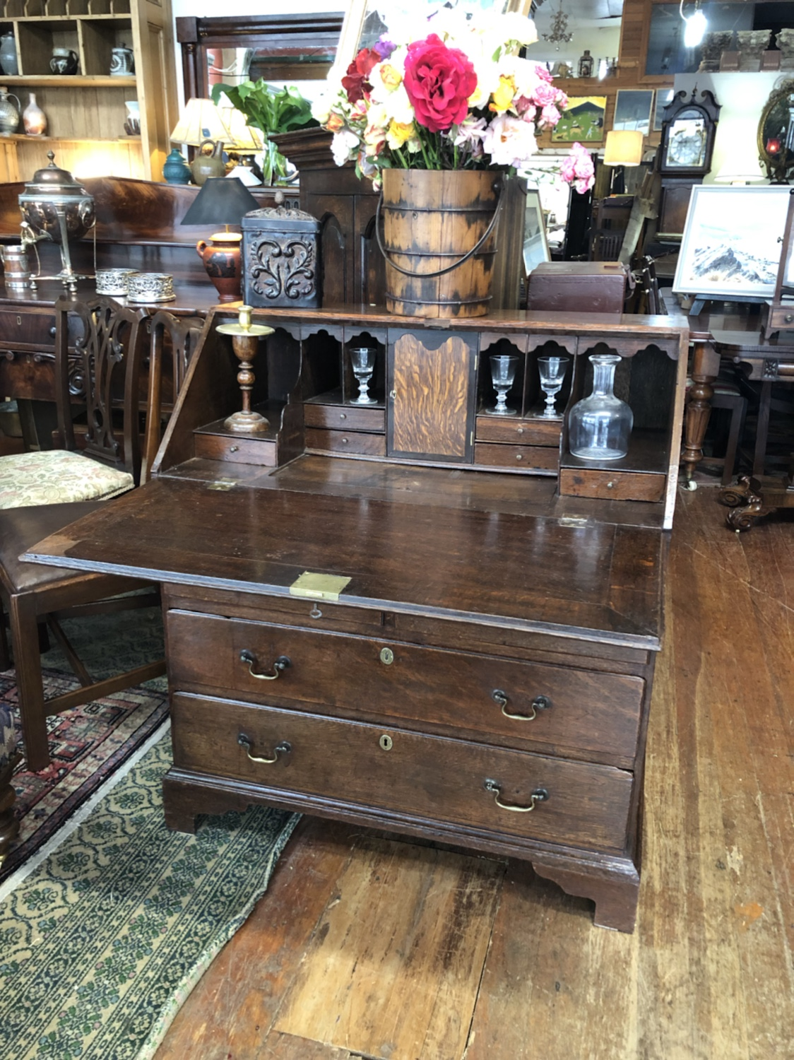 130b. Country Oak Desk
