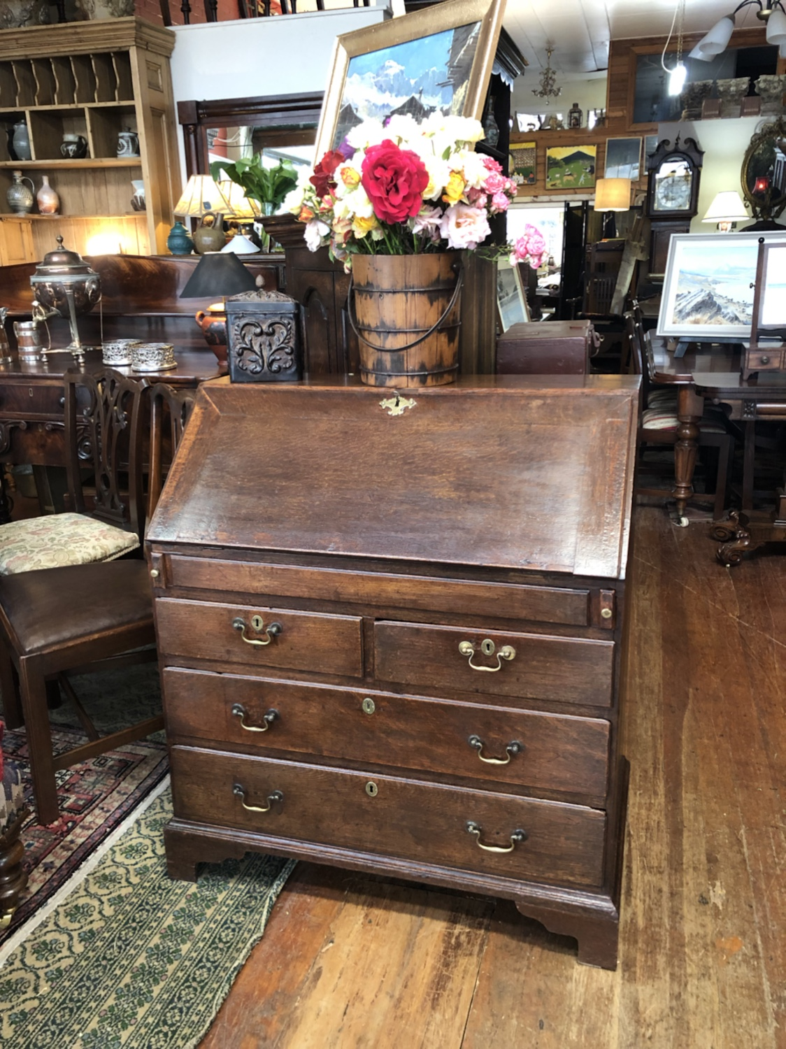 130a. Country Oak Desk