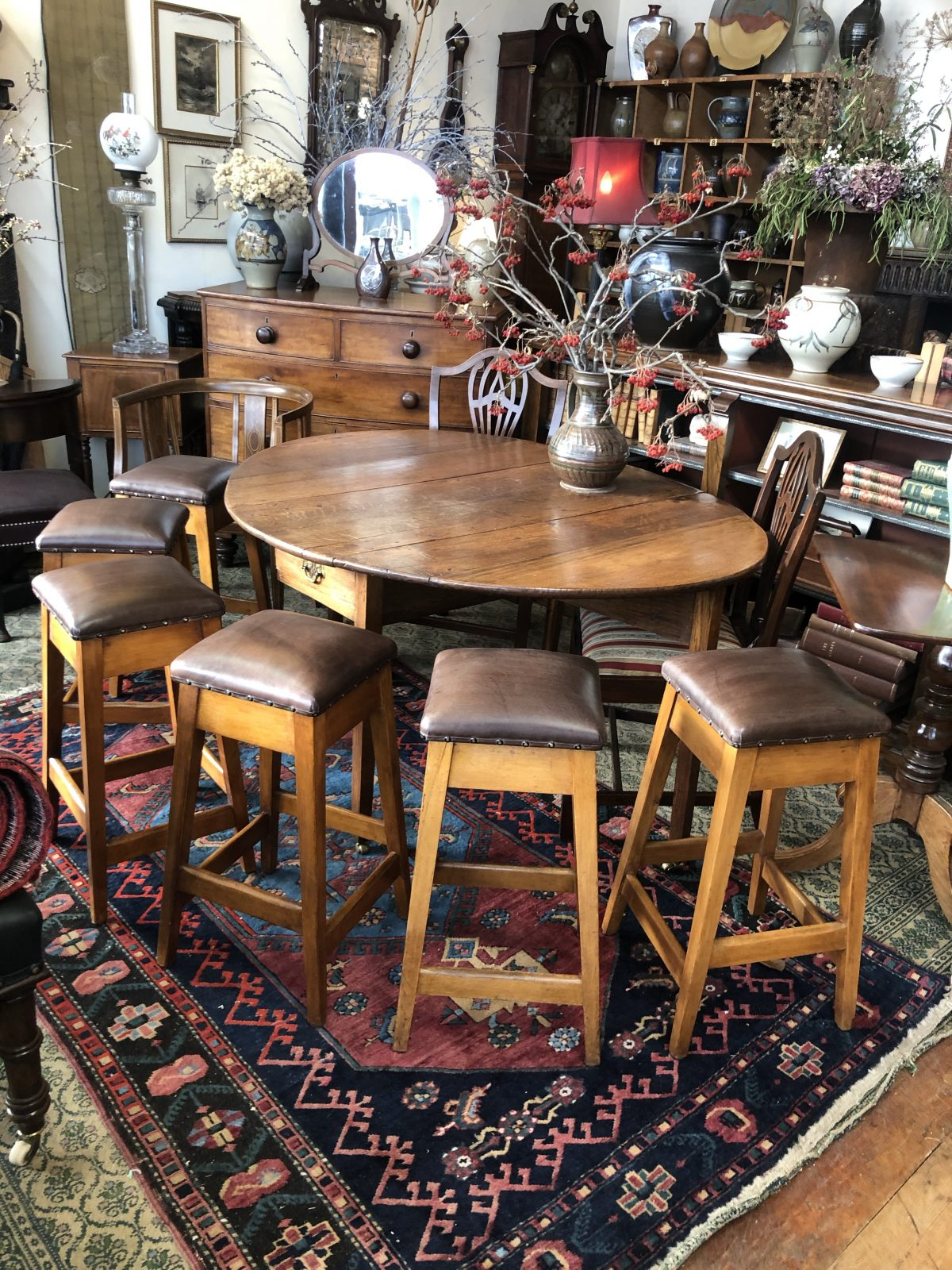 171. Leather Topped Stools